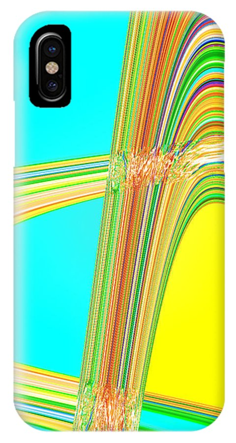 Moveonart! Digital Gallery IPhone X Case featuring the digital art Moveonart Total Increase In Light And Waves by Jacob Kanduch