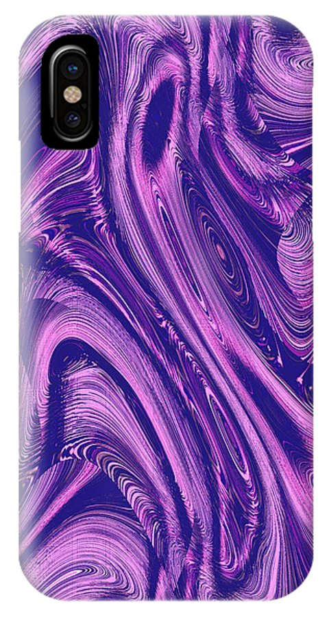 Moveonart! Digital Gallery IPhone X Case featuring the digital art Moveonart True Color Of The Conversation by Jacob Kanduch