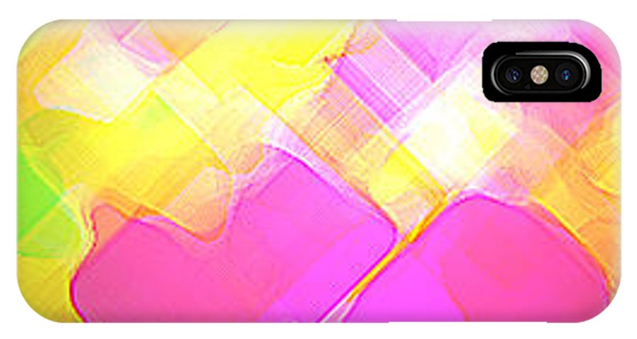 Moveonart! Digital Gallery IPhone X Case featuring the digital art Moveonart Try Not Being Shy by Jacob Kanduch