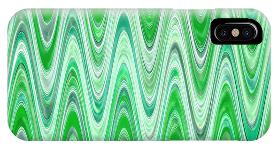 Moveonart! Digital Gallery IPhone X Case featuring the digital art Moveonart Waves Of Good Fortune by Jacob Kanduch