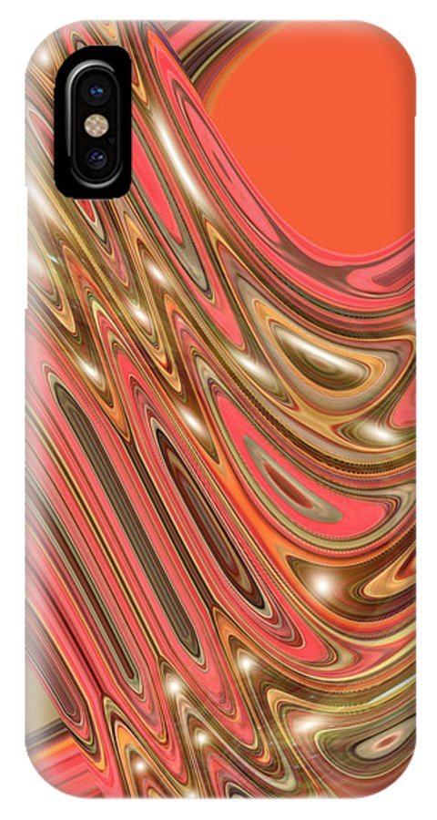 Moveonart! Digital Gallery IPhone X Case featuring the digital art Moveonart Waves Of Interpretation by Jacob Kanduch