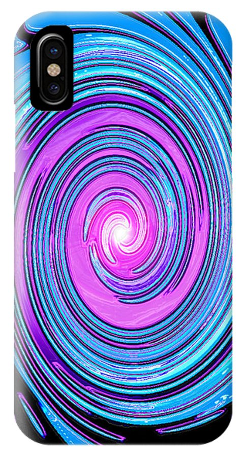 Moveonart! Digital Gallery IPhone X Case featuring the digital art Moveonart Waves Of Renewal I by Jacob Kanduch