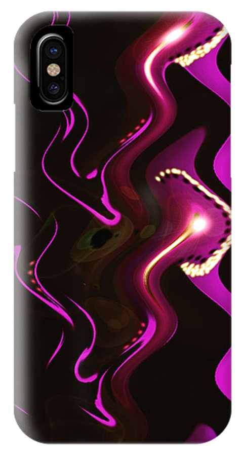 Moveonart! Digital Gallery IPhone X Case featuring the digital art Moveonart Word Of Light Speak Out  One by Jacob Kanduch