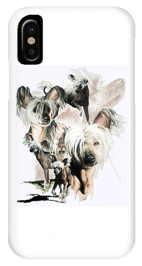 Crested IPhone X Case featuring the mixed media Mowgli by Barbara Keith