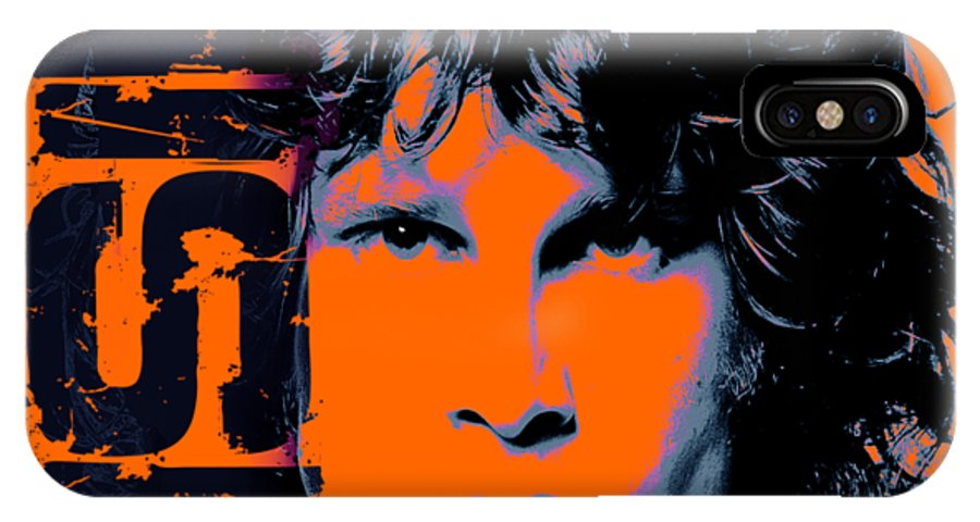 The Doors IPhone X Case featuring the digital art Mr Mojo Risin by Mal Bray