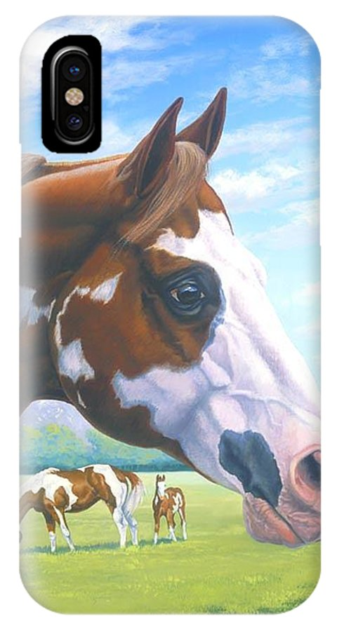 Paint Horse IPhone X Case featuring the painting Mr. Norfleets Legacy by Howard Dubois