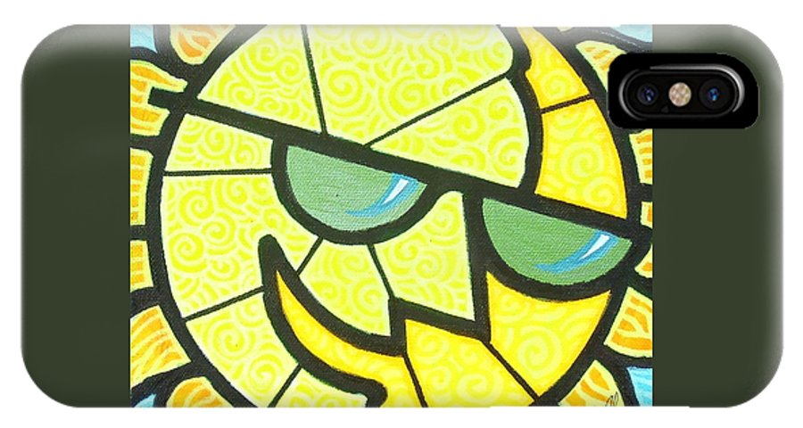 Sunshine IPhone Case featuring the painting Mr Sunny Day by Jim Harris