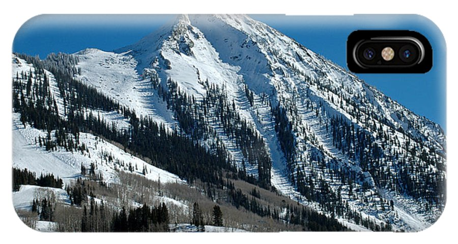 Teresa Blanton IPhone X Case featuring the photograph Mt Crested Butte by Teresa Blanton