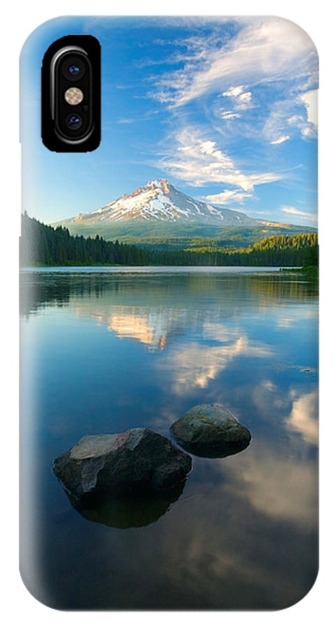 Mt. Hood IPhone X Case featuring the photograph Mt. Hood Cirrus Explosion by Mike Dawson