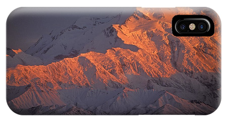 Denali National Park IPhone X Case featuring the photograph Mt. Mckinley Sunset by Sandra Bronstein