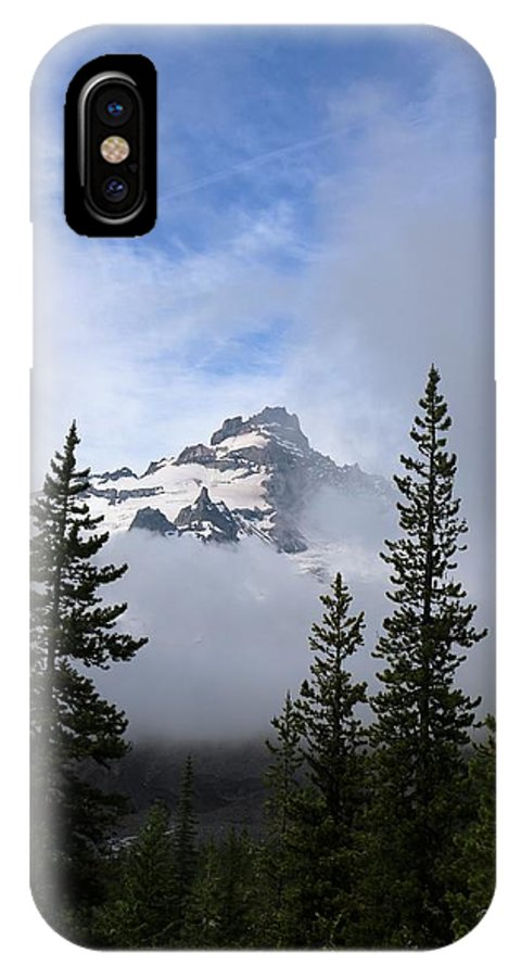 Landscape IPhone X Case featuring the photograph Mt. Rainer by Lisa Spero