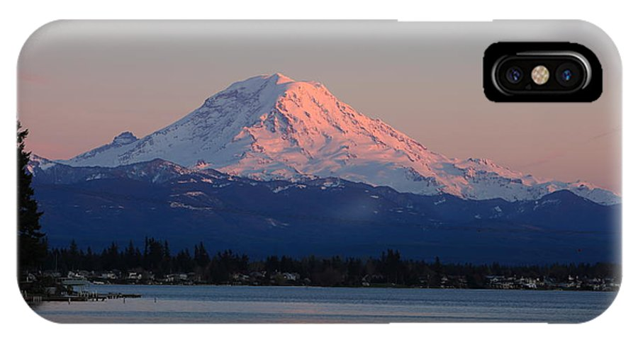 Mt Rainier IPhone X Case featuring the photograph Mt Rainier Sunset by Peter Simmons