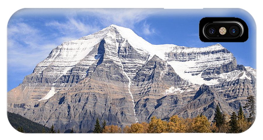 Rocky Mountain IPhone X / XS Case featuring the photograph Mt. Robson- Canada's Tallest Peak by Tiffany Vest