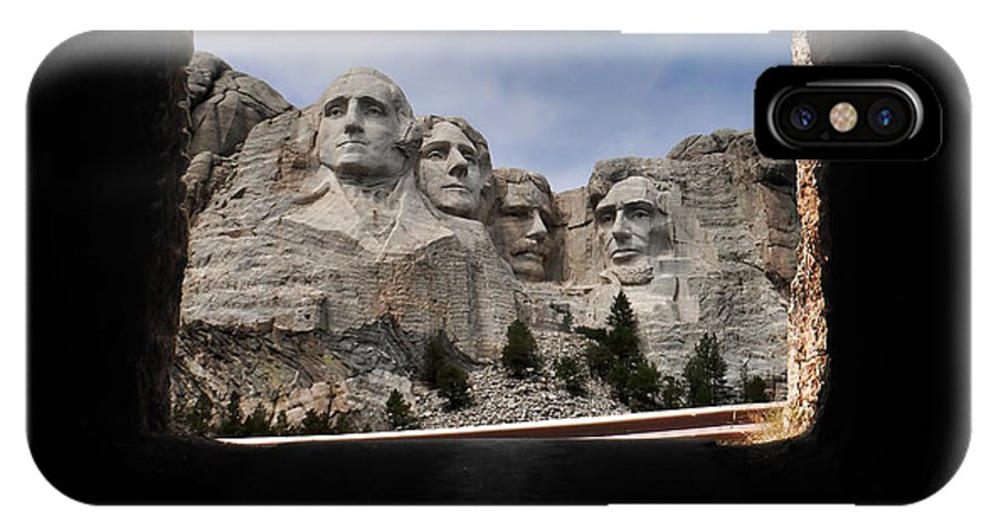 David Lawson Photography IPhone X Case featuring the photograph Mt Rushmore Tunnel by David Lawson