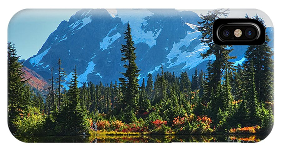 Mt. Shuksan IPhone X Case featuring the photograph Mt. Shuksan by Idaho Scenic Images Linda Lantzy