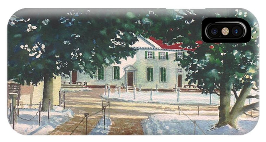 Landscape IPhone Case featuring the painting Mt. Vernon After The Visitors Have All Gone Home by Tom Harris