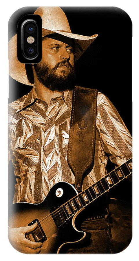 Southern Rock IPhone X Case featuring the photograph Mtb77#67 Enhanced In Amber by Ben Upham