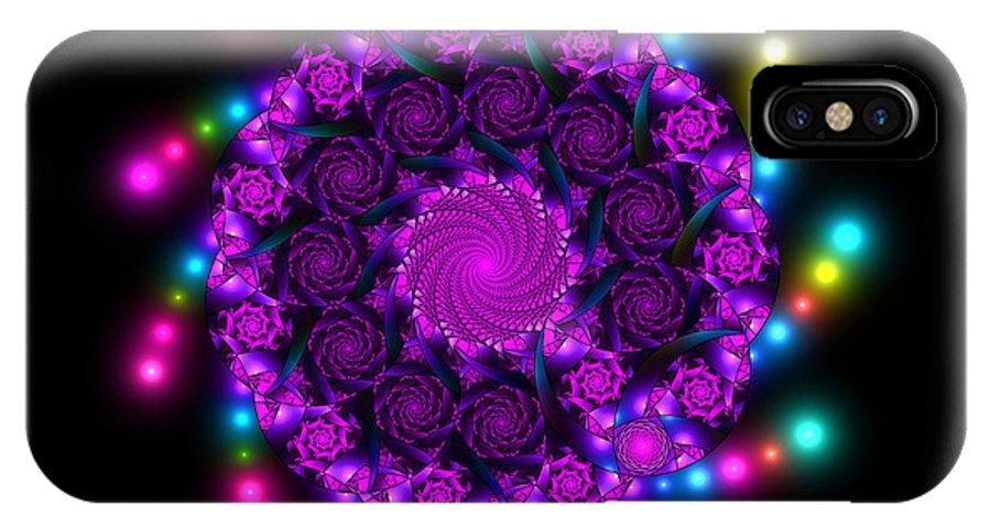 Elena Riim IPhone X Case featuring the digital art Multicolored Mosaica by Elena Riim