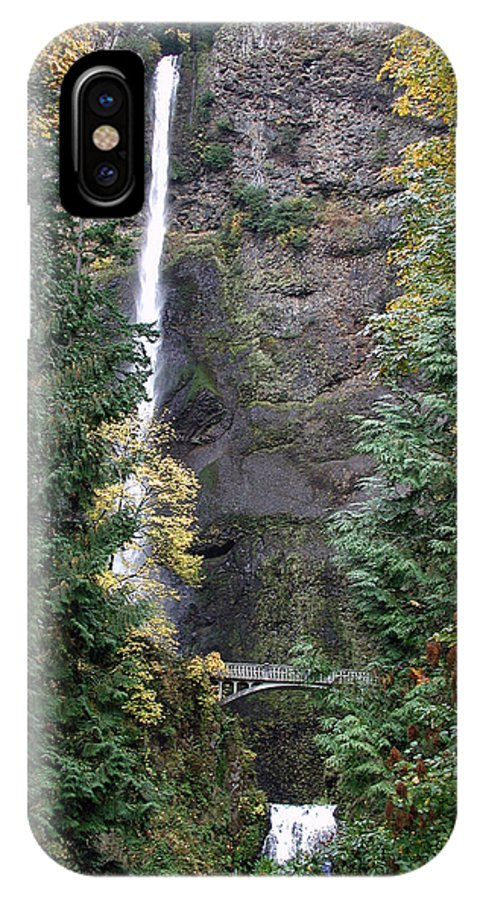 Multnomah Falls IPhone X / XS Case featuring the photograph Multnomah Falls - 5 by D'Arcy Evans