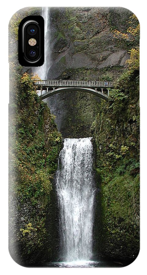 Multnomah Falls IPhone X Case featuring the photograph Multnomah Falls 1 by D'Arcy Evans