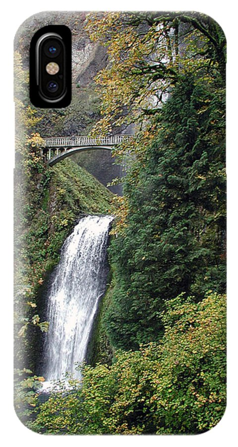 Multnomah IPhone X Case featuring the photograph Multnomah Falls 3 by D'Arcy Evans