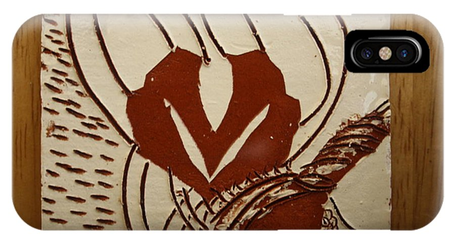 Jesus IPhone X Case featuring the ceramic art Mums Around - Tile by Gloria Ssali
