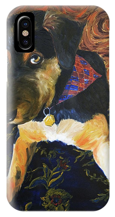 Dog IPhone X / XS Case featuring the painting Murphy I by Nik Helbig