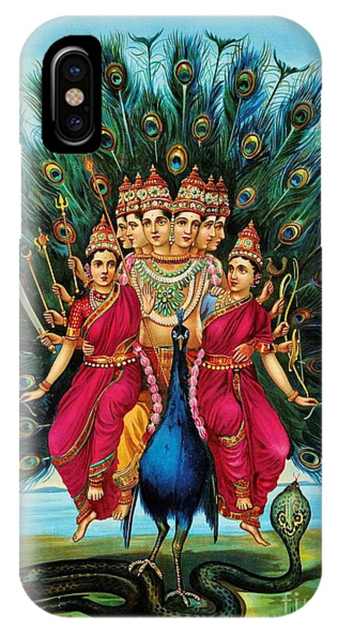 Pd IPhone X Case featuring the painting Murugan by Pg Reproductions