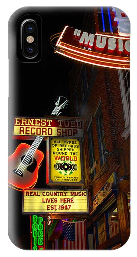 Nashville IPhone X Case featuring the photograph Music City Nashville by Susanne Van Hulst