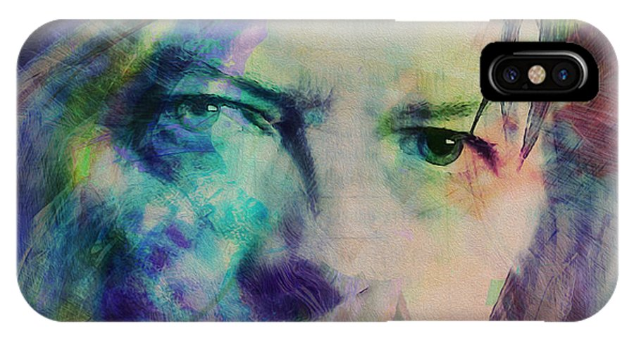 David Bowie IPhone X / XS Case featuring the painting Music Icons - David Bowie Ill by Joost Hogervorst