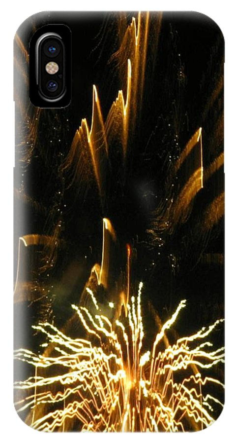 Fireworks IPhone X Case featuring the photograph Music To My Eyes by Rhonda Barrett