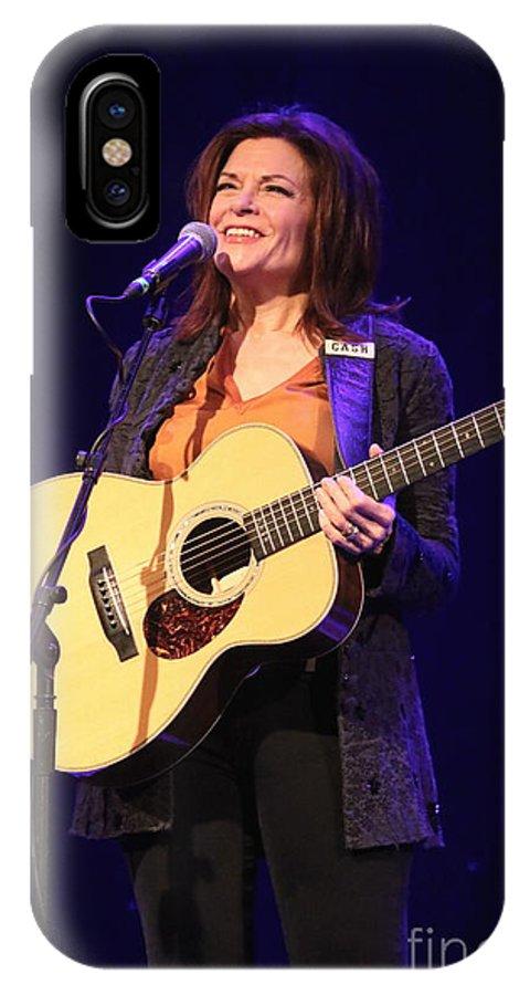 Rosanne Cash IPhone X Case featuring the photograph Musician Rosanne Cash by Concert Photos