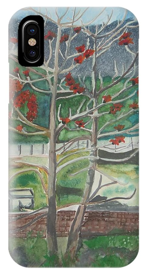 Mussorie Foothills From Dehradun IPhone X / XS Case featuring the painting Mussorie_foothills by Saloni Verma