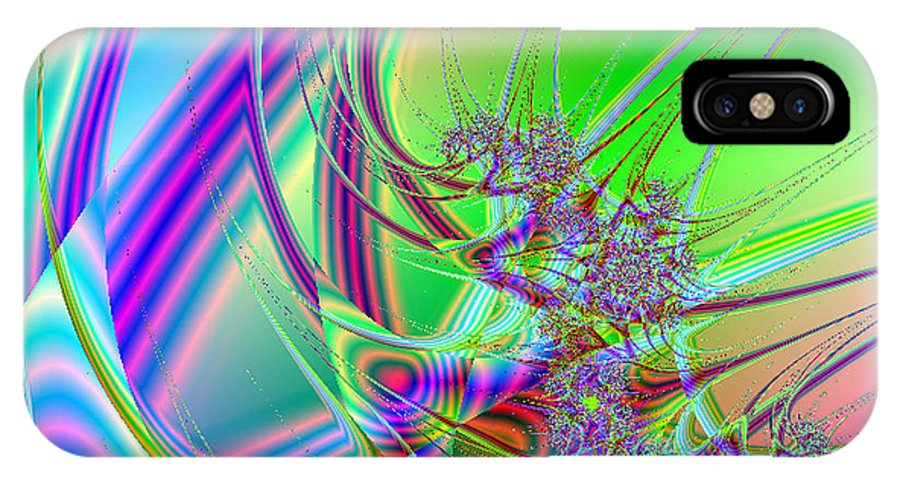 Fractal IPhone X Case featuring the digital art Mutate by Anthony Caruso