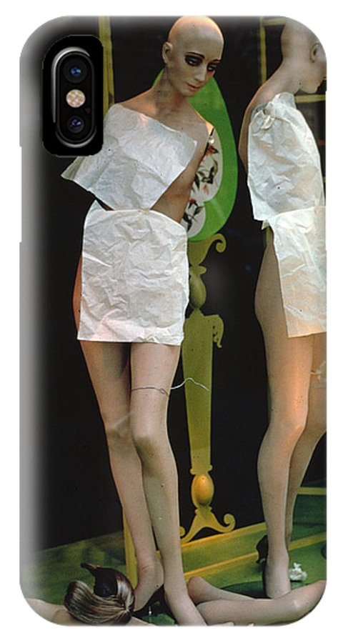 Mannequins IPhone X Case featuring the photograph My Arm Fell Off by Carl Purcell