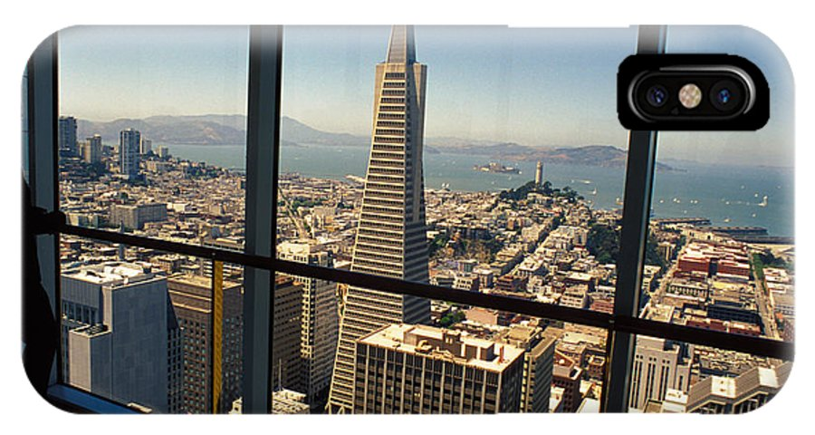 San Francisco IPhone X Case featuring the photograph My City On The Bay by Carl Purcell