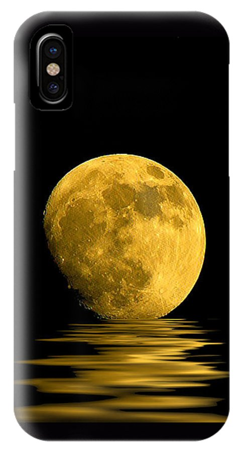 Moon IPhone X Case featuring the photograph My Harvest Moon by Lynn Andrews