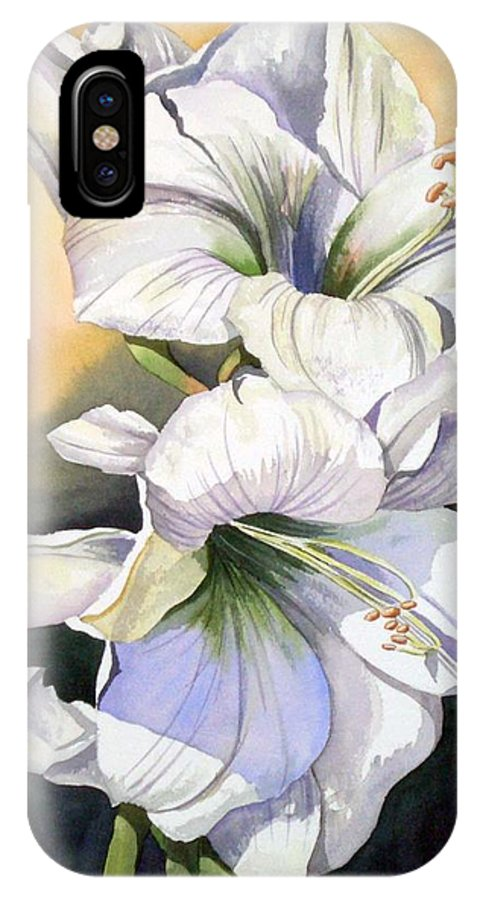 Flower IPhone X Case featuring the painting My Love by Tatiana Escobar