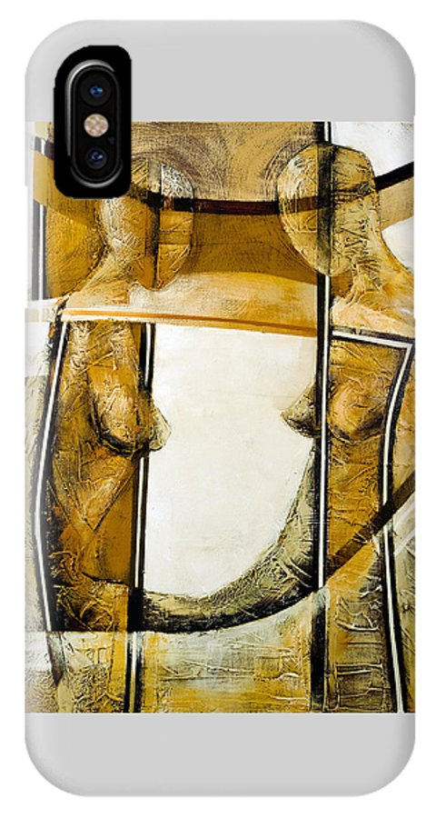 Figurative Abstract IPhone Case featuring the painting My Mirror 2 by Milda Aleknaite