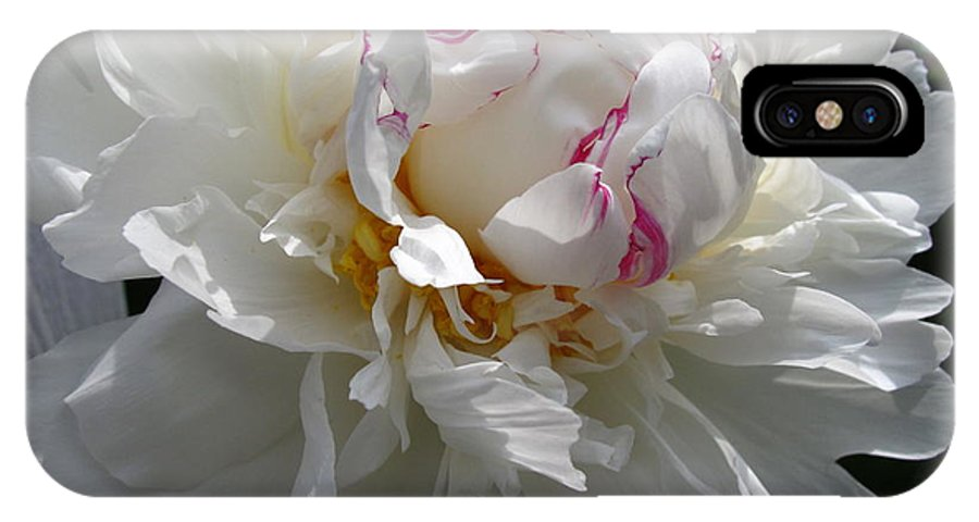Peony IPhone X Case featuring the photograph My Peony by Mary Ellen Mueller Legault