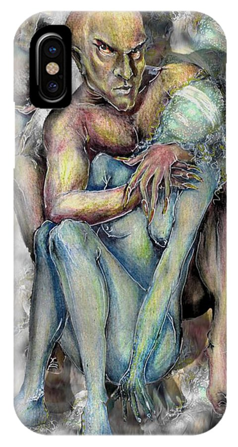 Demons Love Passion Control Posession Woman Lust IPhone X Case featuring the mixed media My Precious by Veronica Jackson