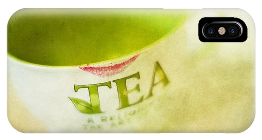 Tea IPhone X Case featuring the photograph My Second Favorite Beverage by Rebecca Cozart