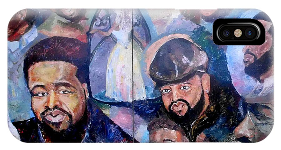 Impressionist IPhone X Case featuring the painting My Song Tribute To The Late Gerald Levert by Keith OBrien Simms
