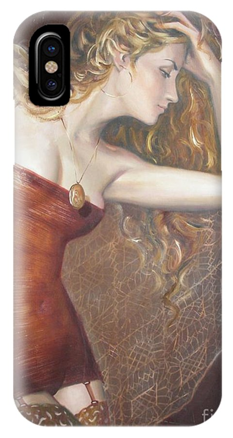 Ignatenko IPhone X Case featuring the painting My Talisman by Sergey Ignatenko