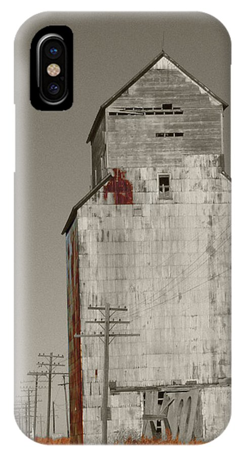 Color Desaturation IPhone X Case featuring the photograph My Time by Dylan Punke