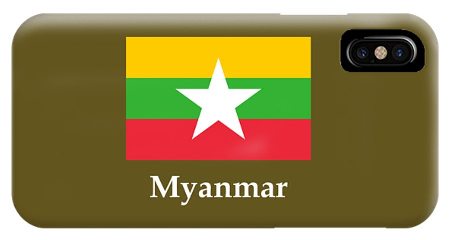 Myanmar Flag And Name IPhone X Case