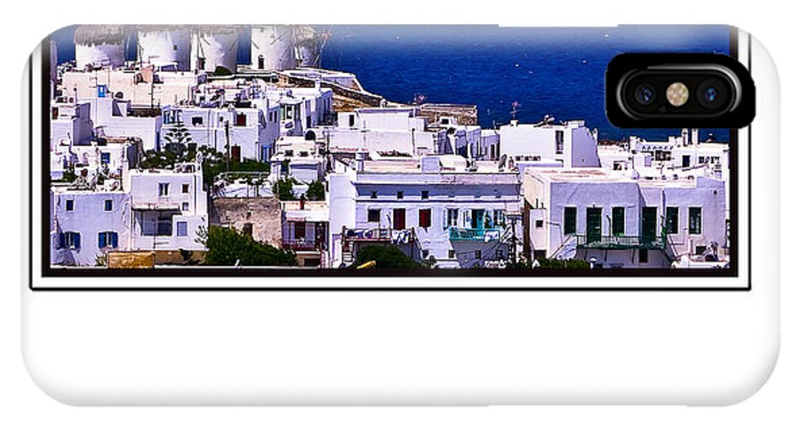 Mykonos IPhone X Case featuring the photograph Mykonos by Madeline Ellis
