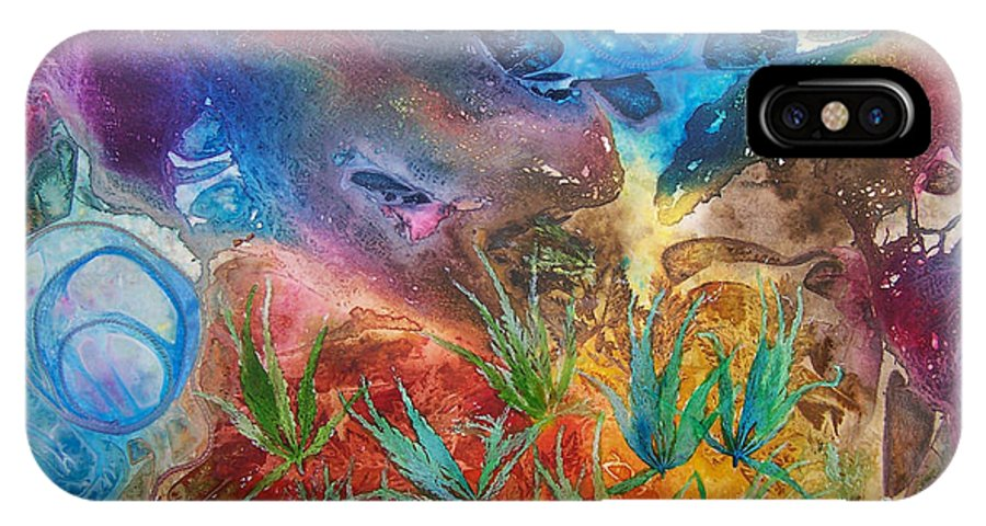 Mixed Media IPhone Case featuring the painting Mysteries Of The Ocean by Vijay Sharon Govender
