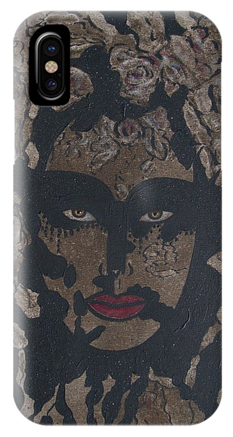 Figurative IPhone X Case featuring the painting Mysterious Desire by Natalie Holland