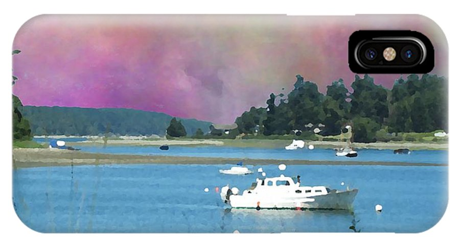 Mystery Bay IPhone X / XS Case featuring the digital art Mystery Bay by Tim Allen